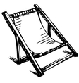 Wooden collapsible chaise lounge for rest vector image
