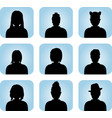 Silhouette of male and female as avatar vector image