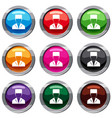 medical doctor set 9 collection vector image