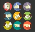 Hand Gestures Icons vector image