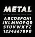 Metal Font on carbon background vector image