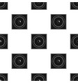 load speaker icon in black style isolated on white vector image