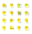 16 container icons vector image vector image