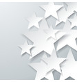 background with flat paper stars abstract vector image vector image
