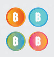 bitcoin logo cryptography currency sign icon vector image vector image