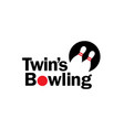 bowling logo designs inspiration vector image