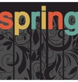 card with print and sign spring vector image vector image