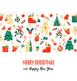 christmas background with holiday elements vector image