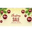 Christmas sale web banner vector image vector image