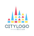 city logo design abstract geometric element vector image vector image