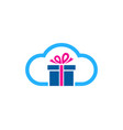 cloud gift logo icon design vector image vector image
