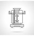 Coffee mill flat line icon vector image