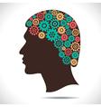 color gear in human head vector image