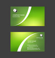 colorful abstract business card templates vector image vector image