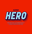Comics super hero style font alphabet letters and