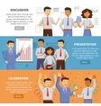 Cooperation banner set vector image vector image