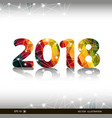 creative happy new year 2018 design card vector image vector image