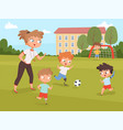 disability kids people playing and make sport vector image vector image