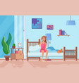 exhausted woman in morning flat vector image