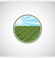 farming logo design idea vector image vector image