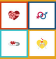 flat icon heart set of sexuality symbol vector image vector image