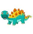 funny stegosaurus cartoon posing vector image vector image