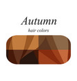 hair colors for autumn type vector image vector image