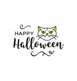 happy halloween inscription trendy vector image
