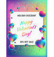 happy valentines day vertical background vector image