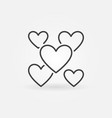 hearts outline icon valentines day and vector image vector image