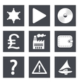 Icons for Web Design set 24 vector image vector image