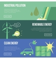 Industrial pollution Renewable and clean energy vector image vector image