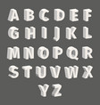 isometric font set isolated on grey background vector image vector image