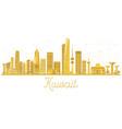kuwait city skyline golden silhouette vector image vector image