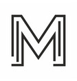 m logo technology style vector image vector image