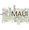 maui for couples text background word cloud vector image vector image
