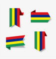 mauritius flag stickers and labels vector image vector image