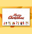 mix race couples giving gift present boxes to each vector image vector image