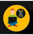 online training education-student molecule atom vector image vector image