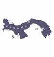 panama silhouette map vector image