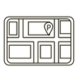 Parking icon outline style vector image vector image