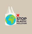 pollution problem concept of vector image vector image