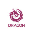 purple chinese dragon in a circle shape vector image vector image