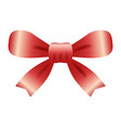 red bow on white background can be vector image vector image