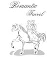 Romantic travel vector image vector image
