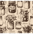 Rustic mason and canning jar vector image vector image