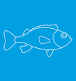 sea bass icon outline style vector image vector image