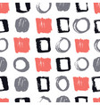 seamless pattern living coral gray black colors vector image vector image