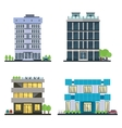 set modern business center with diverse vector image