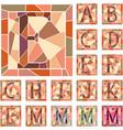 set mosaic capital letters alphabet vector image